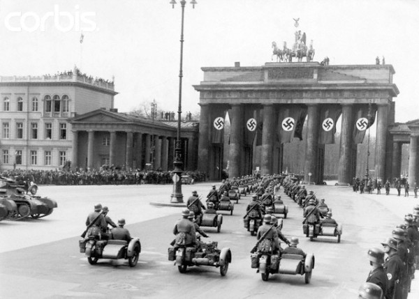 Nazi Parade Under Brandenburg Gate 1930